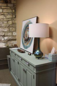 decorative art on a dresser